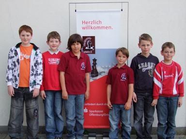Auf dem Bild von links: David Holstein, Marco Riehle, Julian Martin und Dominik Bohnert