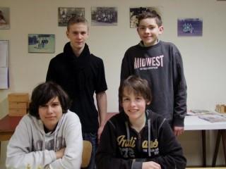 Bild v.l.n.r. Dominik Bohnert, Hans-Erich Gubela, Marco Riehle und Thilo Ehmann