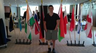 Raphael Zimmer bei der Behinderten WM in Dresden